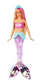 Barbie Dreamtopia Sereia Luzes Arco-iris - Gfl82 Mattel