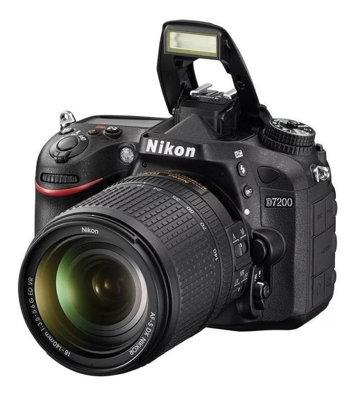 Nikon D7200 18-140mm VR Kit DSLR cor preto