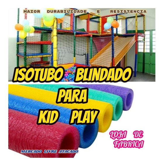 Revestimento Para Tubo De Brinquedão C/furo 54mm Kit C/16mts