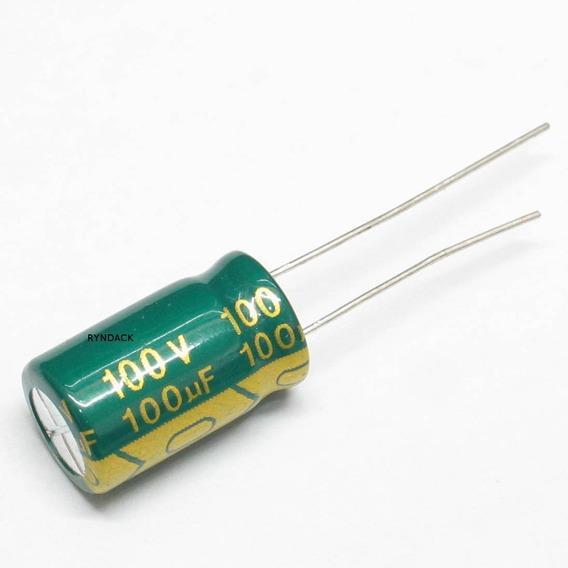 20 Peças * Capacitor Eletrolítico Baixa Esr 100uf 100v 105ºc