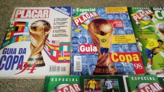 Placar Guias Da Copa 1994 Até 2018 + Livros Lote
