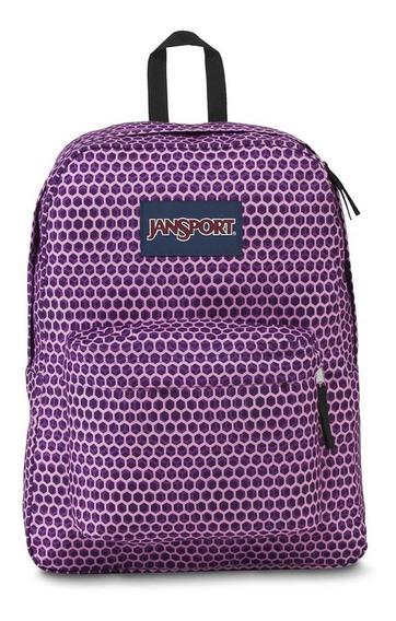 Mochila Superbreak Violeta Enjambre Jansport Js00t501-3g6