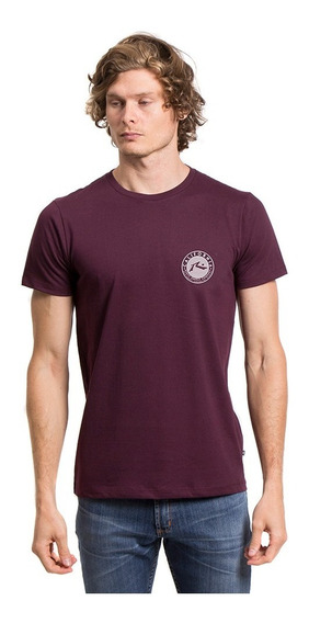 Remera Hombre Rusty Mountains And Rainbows Bordo