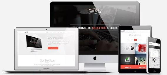 Script Php Quattro Site Blog + Admin Responsivo Corrigido