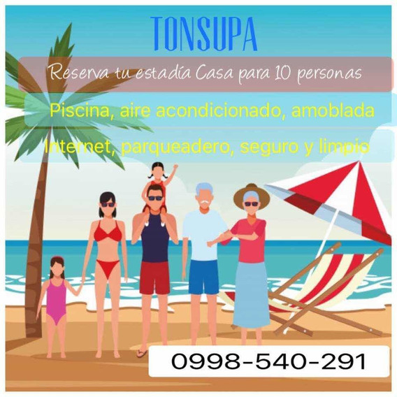 Casa Familiar En Tonsupa