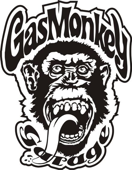 Calcomanía Gas Monkey 25 X 20 Cm Graficastuning