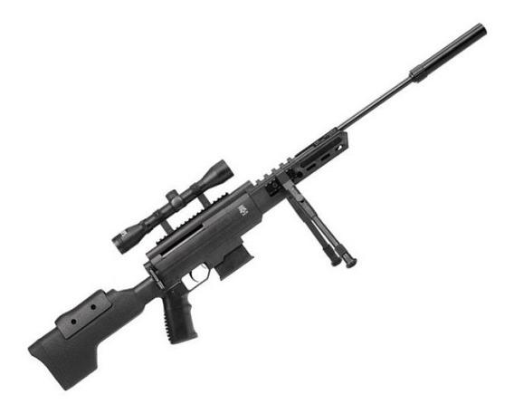 Carabina De Pressão Black Ops Sniper 5.5mm Nitro Gás Ram