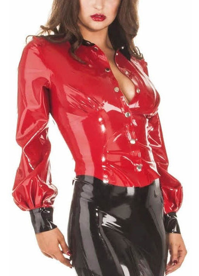 Ropa De Látex- Blusa Roja Mujer