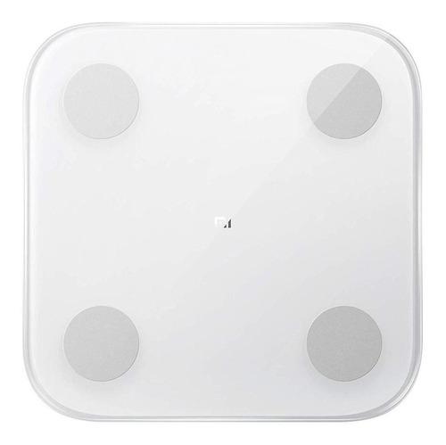 Imagen 1 de 3 de Báscula Xiaomi Mi Body Composition Scale 2 blanca, hasta 150 kg