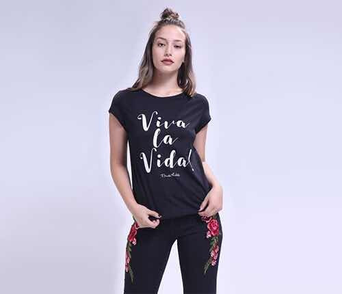 Remera Viva La Vida Ona Saenz Frida Khalo
