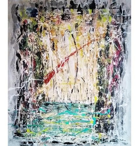 Pintura Abstracta Cazart_cuadros Pintado A Mano Sobre Tela