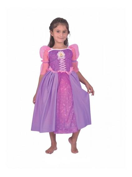 Disfraz Rapunzel Con Peluca 1m.de Largo Chirimbolos