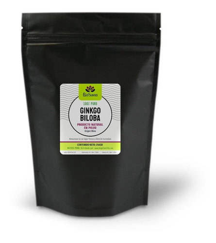 Ginko Biloba En Polvo (250gr)  - Producto Natural 100% Puro