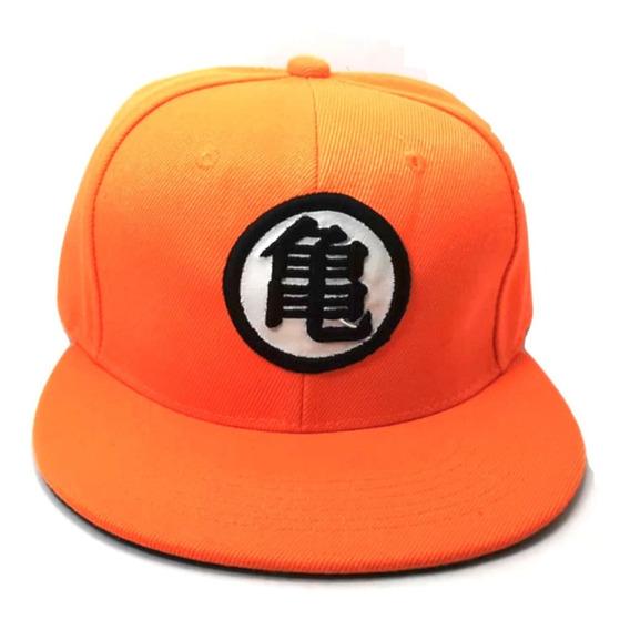 Gorra Dragon Ball Naranja Adultos Unisex Goku Snapback Roshi