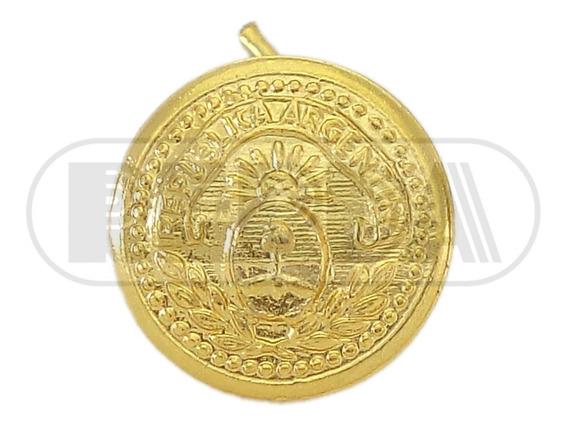 Botón Pin Metálico Dorado Con Escudo Patrio 10 A 12mm