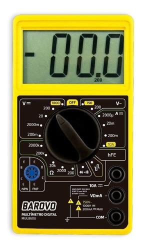 Imagen 1 de 8 de Tester Multimetro Digital Udovo Mul860u C/ Buzzer + Puntas