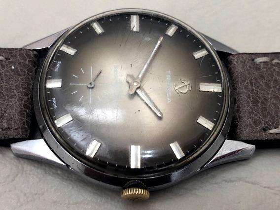 Relógio Mecânico Tressa Swiss Vintage Á Corda 36mm Funcionando