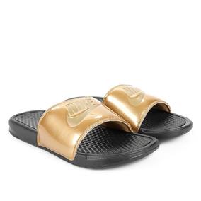 2 Pares Chinelo Nike Benassi Original + Nf Dourado Camuflado
