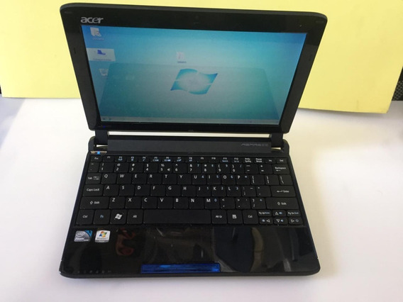Netbook Aspire One 532h-2588 Funcionando.