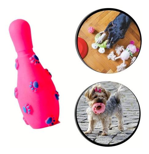 Brinquedo Pet - Pino De Boliche De Borracha Cor:rosa