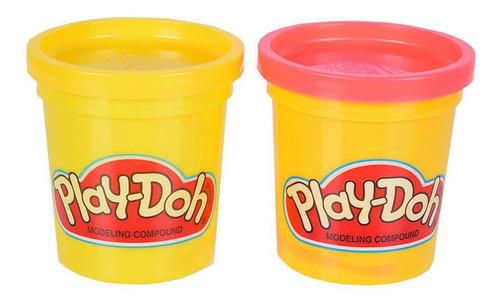 Imagem 1 de 1 de Massinha Play-doh - 2 Potes Amarelo E Rosa - Hasbro