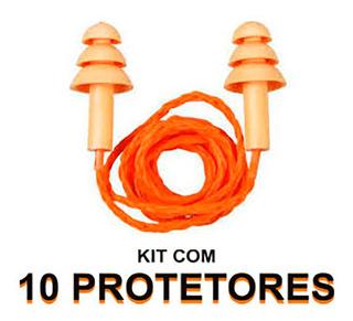 Kit 10 Protetores Auricular Plug Silicone Protect Plug 15db