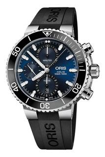 Nuevo!! Reloj Oris Aquis Cronógrafo Original 77477434155