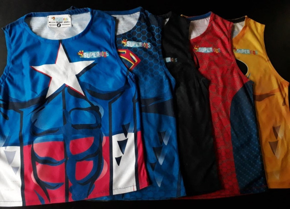 Remeras Niños Superheroes Original Ventas Al Por Mayor