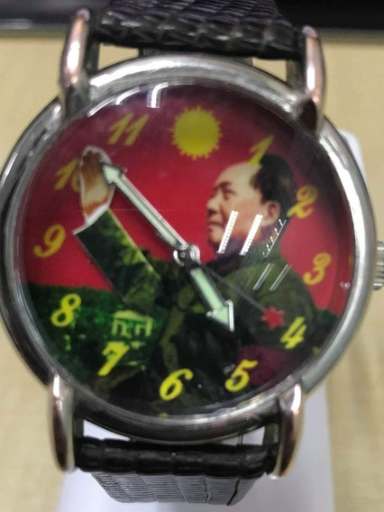 Reloj Vintage Mao Cuerda Mecanico Mao Zedong