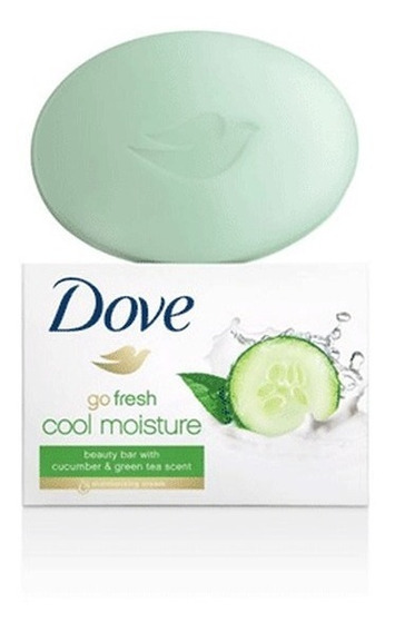 Caja De Jabon Dove Hidratante Barra Rosa Y Verde