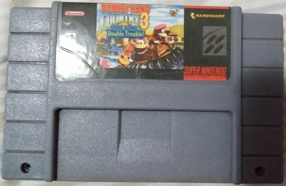 Cartucho Super Nintendo Donkey Kong Country 3 Dixie Paralelo
