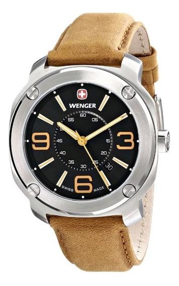Elegante Reloj Suizo Wenger Escort Piel Nuevo Envío Gratis
