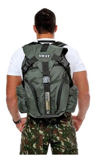 Mochila Tática Swat Fox Boy Fb079 Rip Stop Militar E Camping