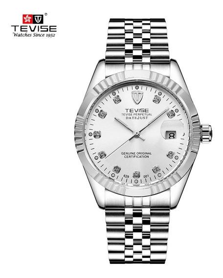 Tevise Hombres Reloj De La Marca Branco + Prata