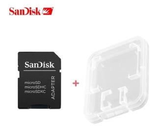 Kit 2 Adaptador Sd Sandisk Leitor Micro Sd Sdhc Sdxc