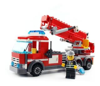 Carro Bomberos Con Escalera Compatible Con Lego City