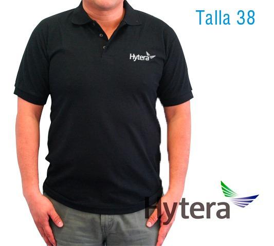 Polo Bordada Logo Hytera Talla 38 Color Negro