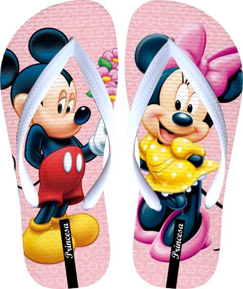 Chinelos Personalizados + Barato Mickey E Minnie