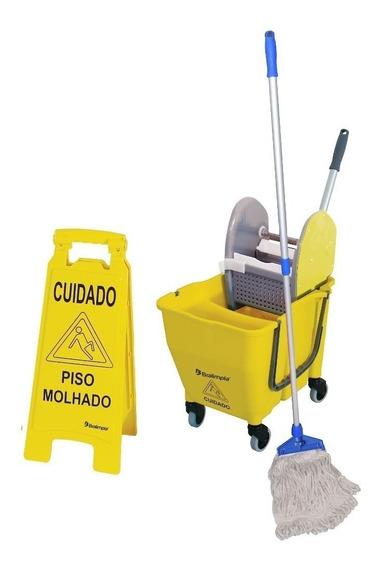 Kit 1 Limpeza Profissional Amarelo Nykt01 Bralimpia