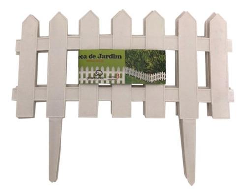 Kit 9 Cercas Plastica Decorativa Jardim Inglês 3,64m Gramado