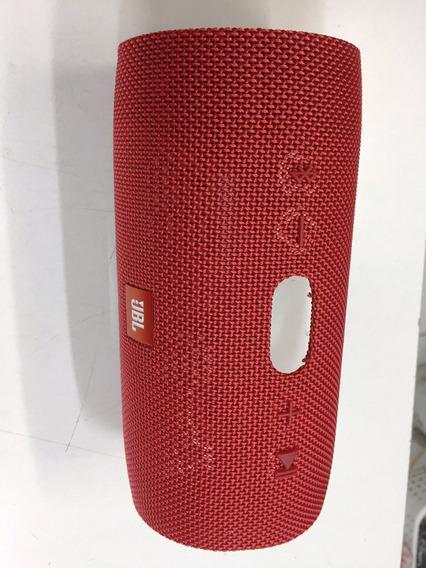 Tampa Externa Caixa Som Jbl Charge 3 - Original Vermelha