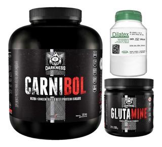 Carnibol 1,8kg Integral + Glutamina 350g + Dilatex 152 Cáps