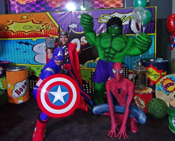 Hombre Araña, Capitan America Ironman Increible Hulk Thor