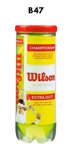 Imagen 1 de 3 de Pelotas De Tenis Wilson Championship Extra Duty