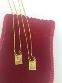 Escapulário 70cm Veneziana Réplica De Jóia Banhado A Ouro