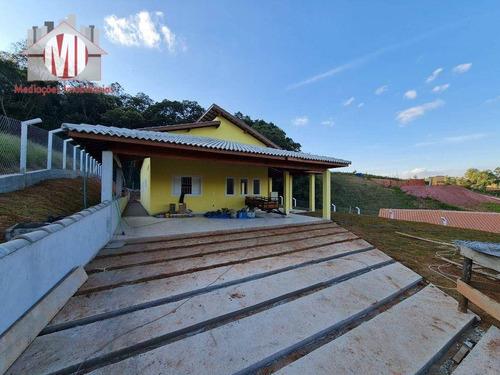 Ótima Chácara Com 3 Dormitórios, Piscina, Fino Padrão De Acabamento, À Venda, 1200 M² Por R$ 490.000 - Mostardas - Monte Alegre Do Sul/sp - Ch0893
