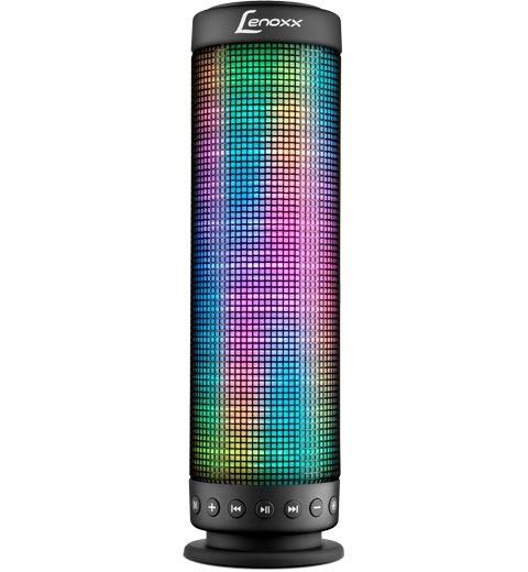 Caixa Som Portátil Bluetooth Show De Luz Led Bateria Usb