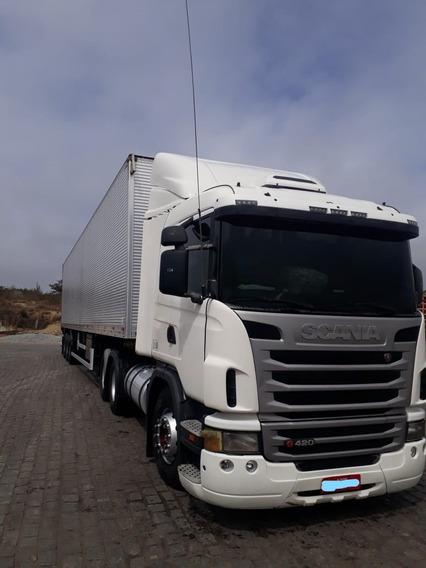 Scania G420 2011 Com Retarder + Baú Guerra 2016