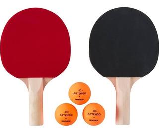 2 Raquetas De Ping Pong Y 6 Pelotas Paquete