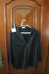 = Roupa Lote 617 Mulher Camisa Social Preta Mamazita G